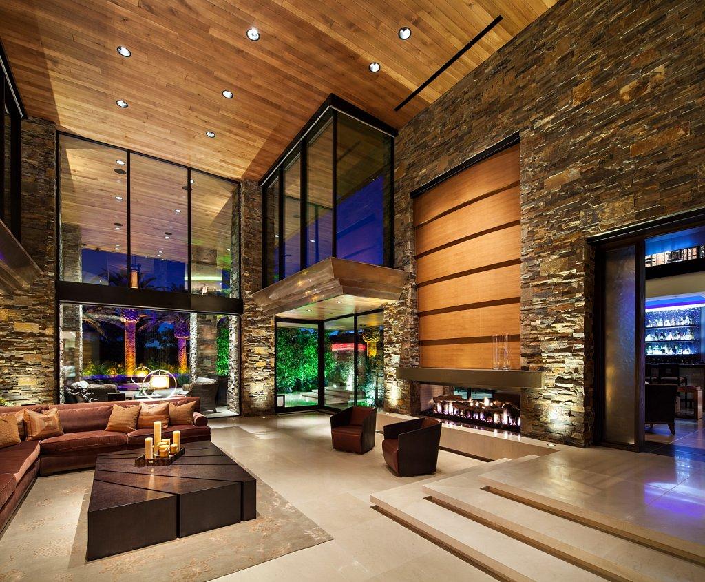 Contemporary Estate - living room