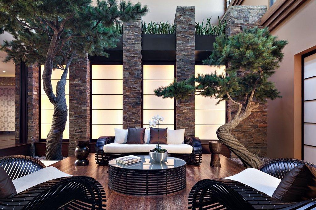 Contemporary Estate - indoor Zen garden