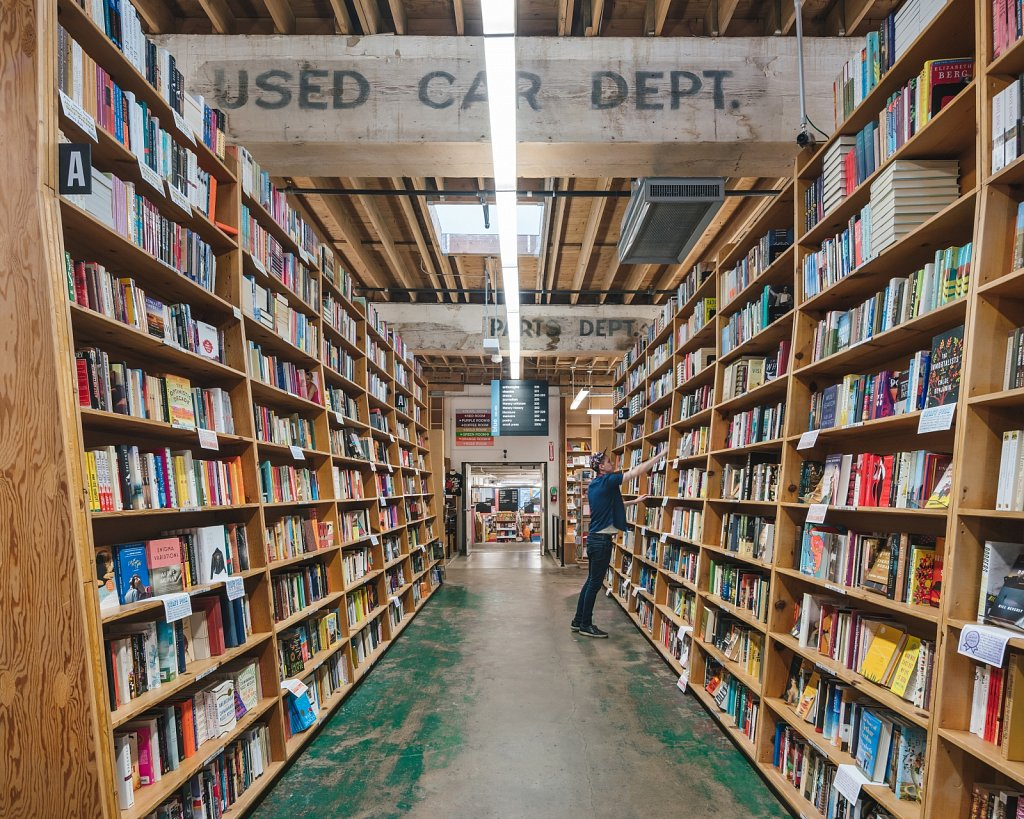 Powell's Books - used to be a car dealership